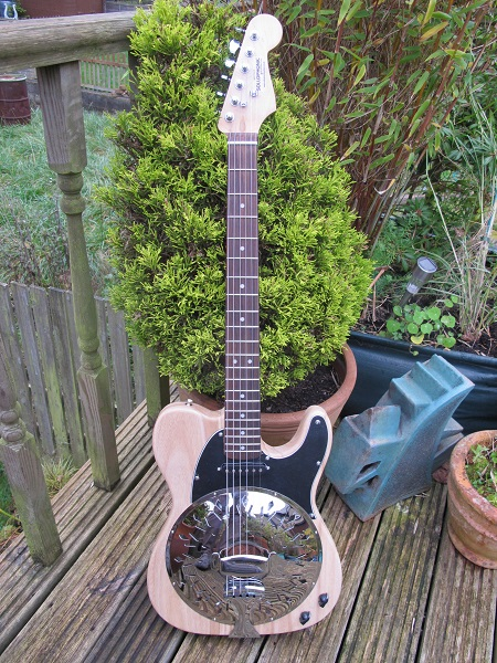 "Paulowina Body, Squier Strat Neck, ""Rough 'N' Ready Series."