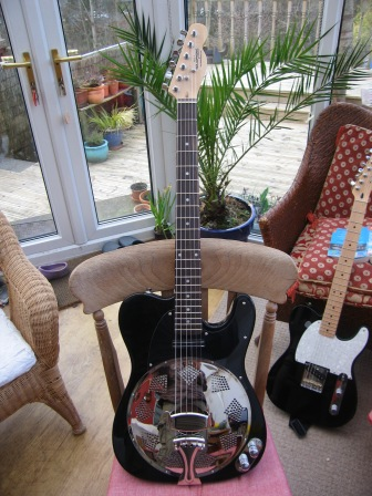 "Recent conversion, black with a Hotrail. Customer comments""What can I say, an incredible piece of gear. Played through my Champion600 it sounds so authentically rootsy. Youve really got something there, Im going to spread the good word. Thank you very much!"